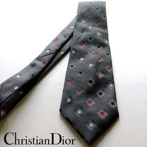 Designer Christian Dior Paris Cravates tie in gray